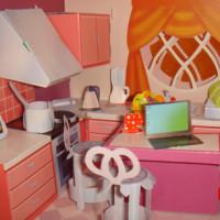 Кукольный домик из бумаги