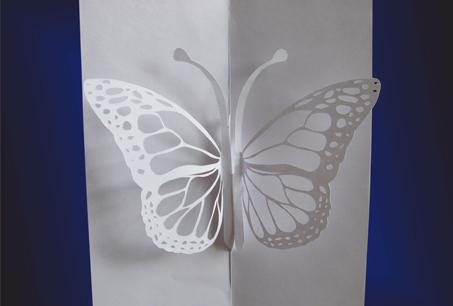 Шаблон киригами «Бабочка»