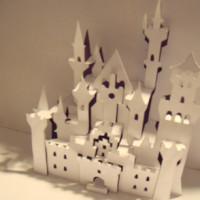 Шаблон киригами «Замок Нойшванштайн»