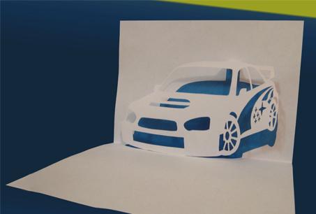 Схема киригами «Машина Субару»