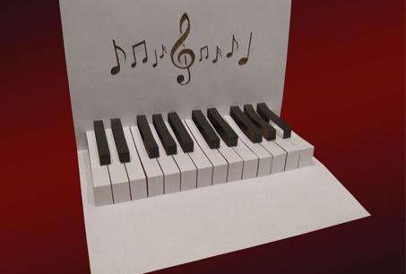 Шаблон киригами «Пианино»