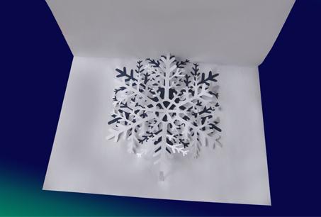 Схема киригами «Снежинка»