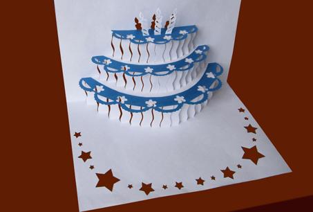Схема киригами «Торт»