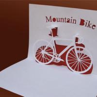 Шаблон киригами «Горный велосипед»