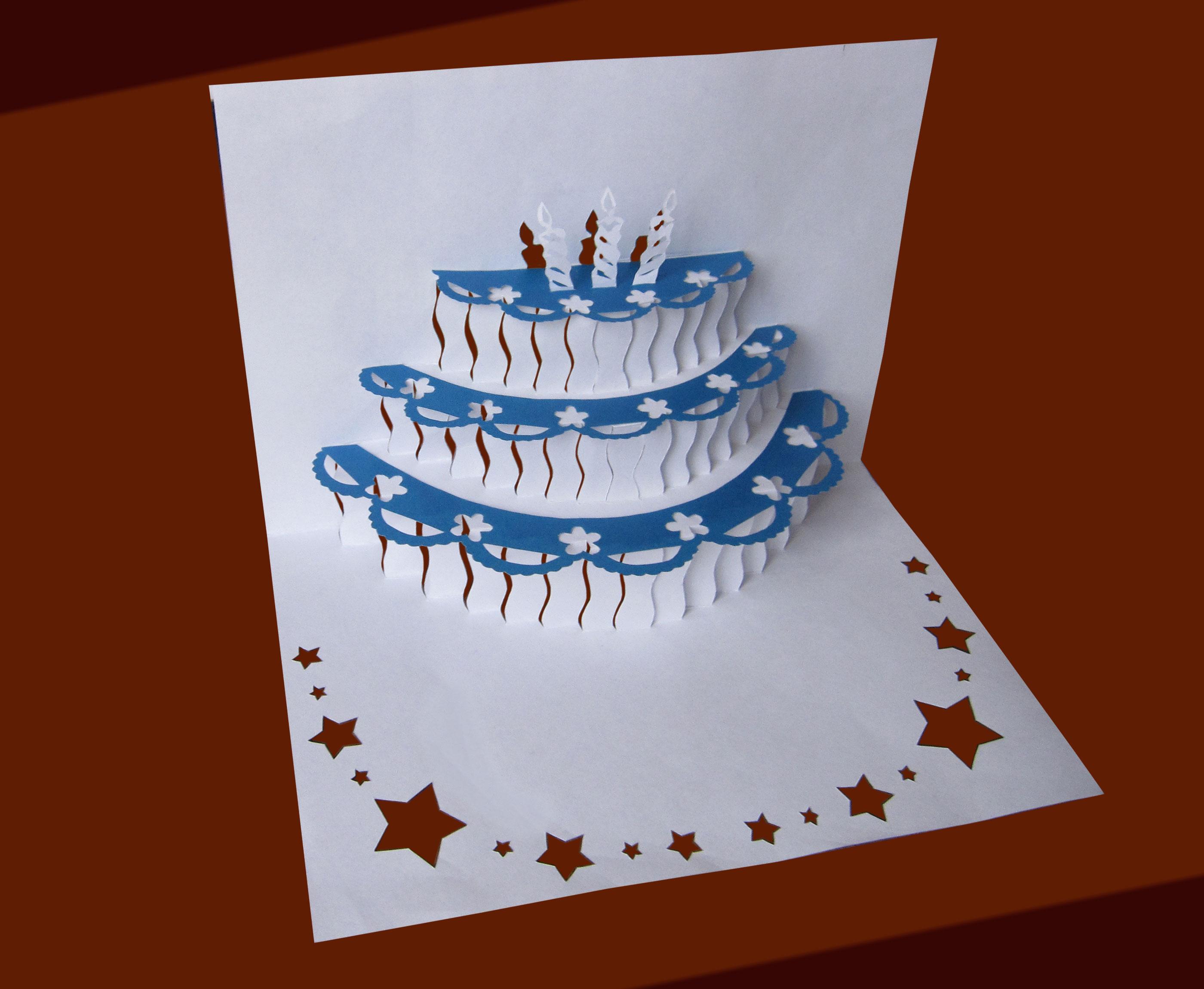 Открытка своими руками торт