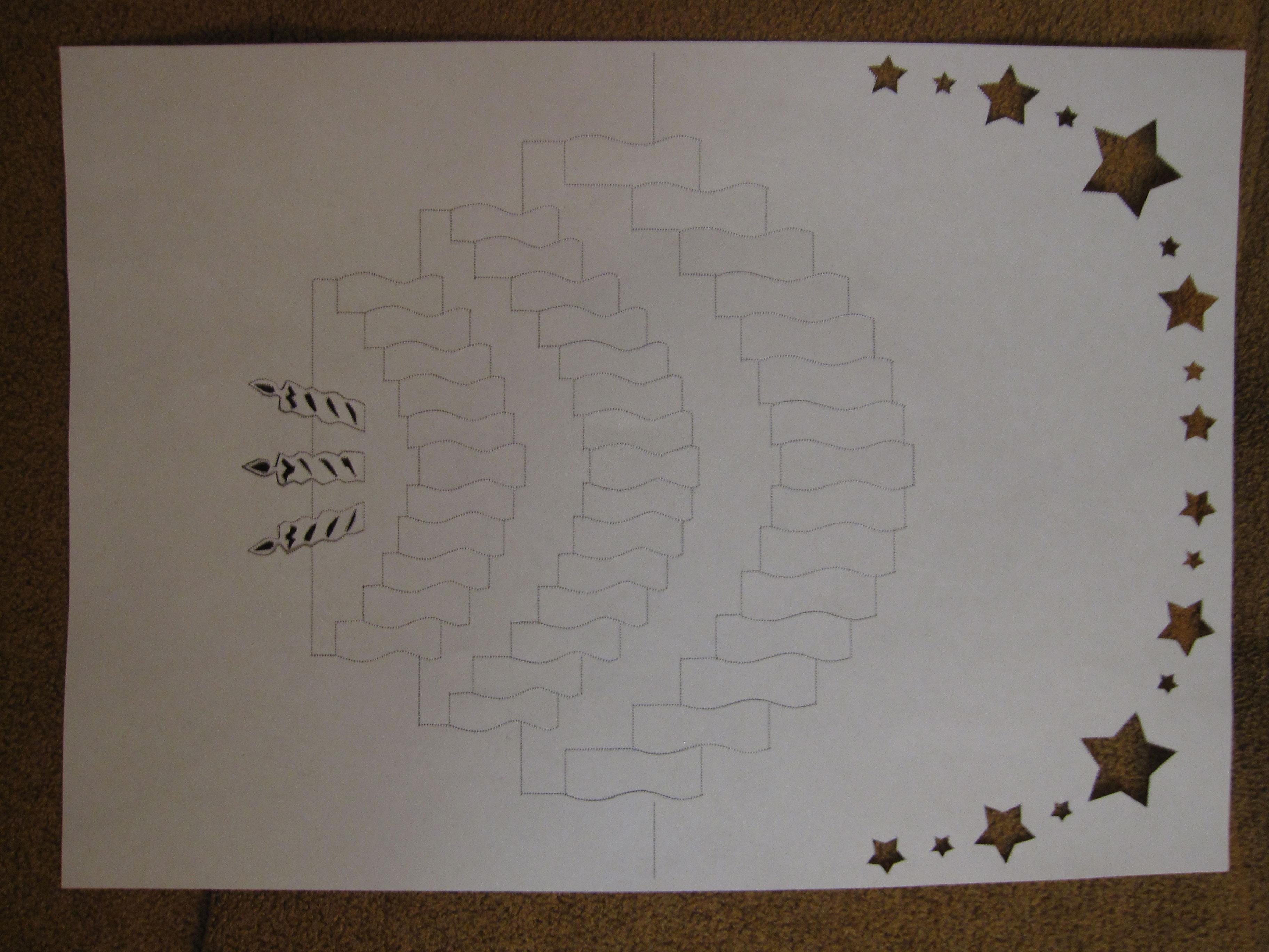 Киригами открытки шаблоны на день рождения 39