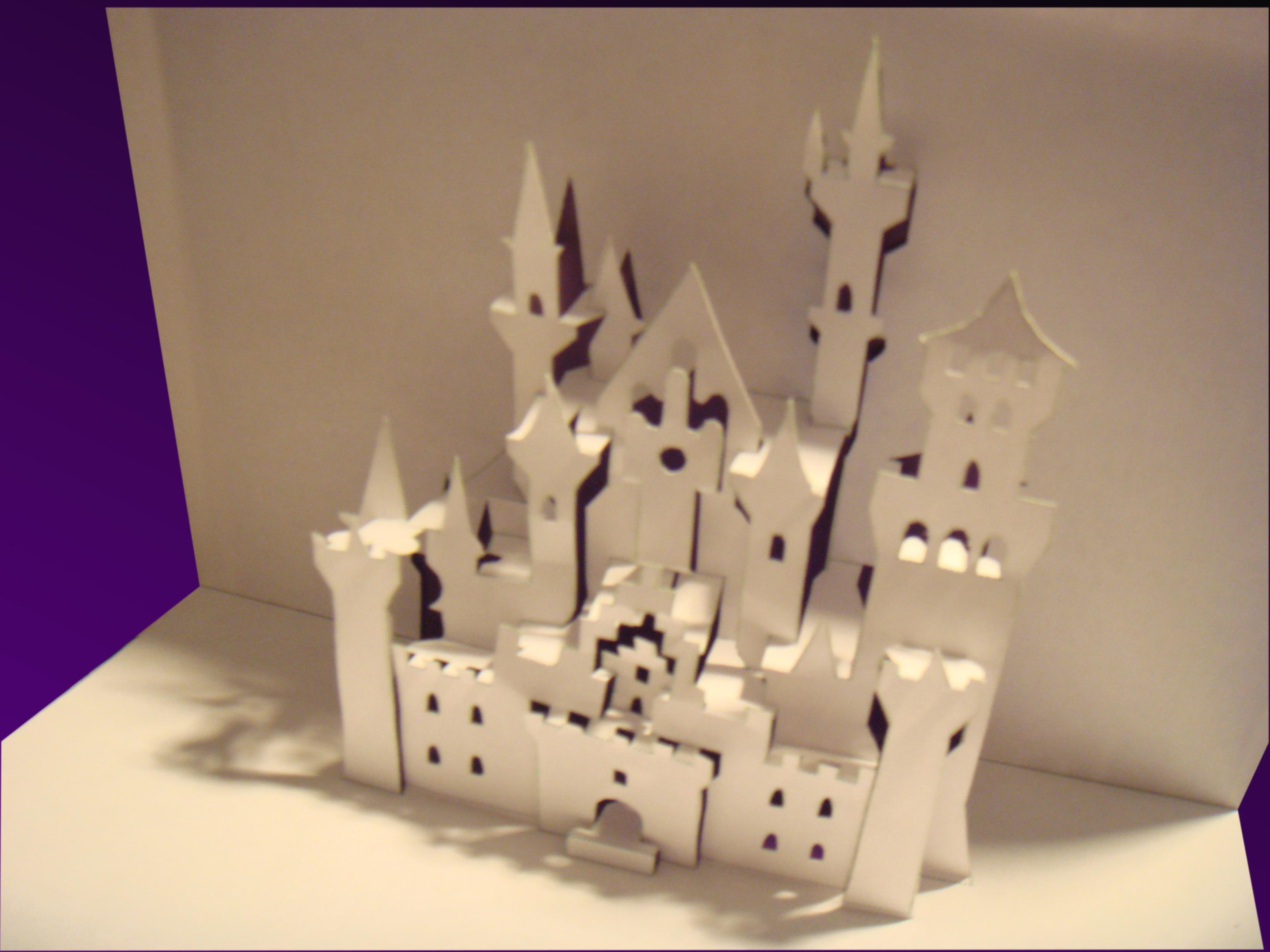 Как сделать объемный замок из бумаги